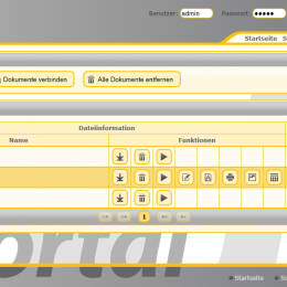 Screenshot vom Portal Version 3