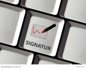 Digitale Signatur per Tastatur