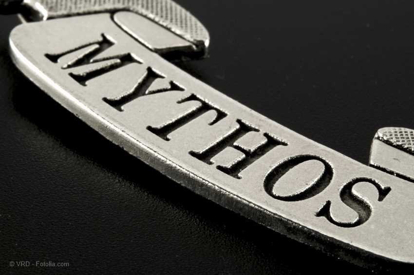Aufschrift Mythos
