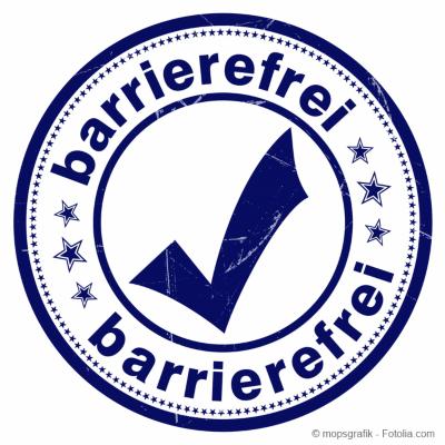 Stempel barrierefrei