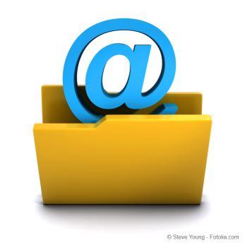 Ordner mit @ Symbol: Emailarchivierung