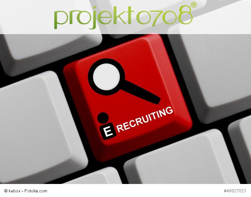 Tastatur mit E-Recruiting Aufschrift