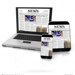 News auf Tablet, Smartphone und Laptop