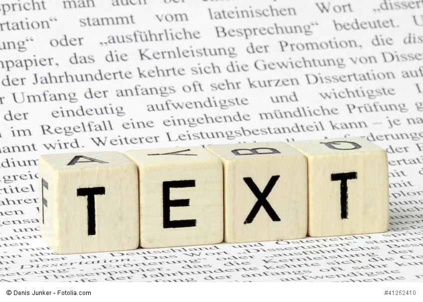 Buchstabenwürfel TEXT