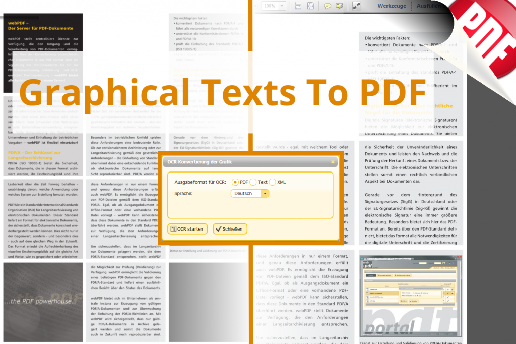 Graphical Texts To PDF Screenshot