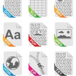 Dateiformate Icons