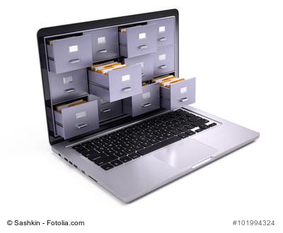 Langzeitarchivierung: Laptop mit Schubladen