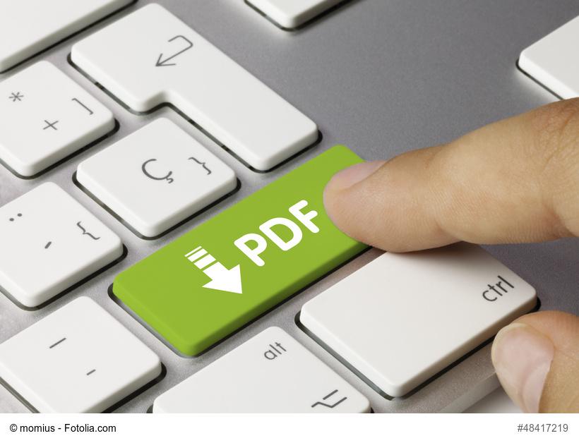 Tastatur Grün: PDF per Knopfdruck
