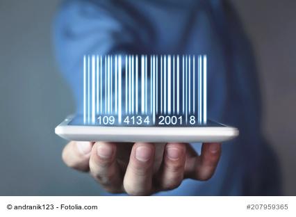 Barcode und Tablet