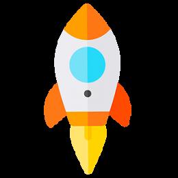 Rakete webPDF 8 startet