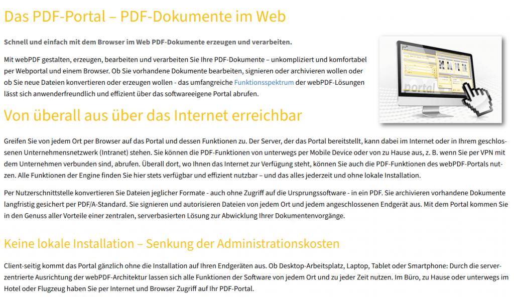 Neuerungen Webportal