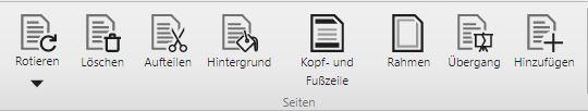Übersicht Seiten-Management-Funktionen